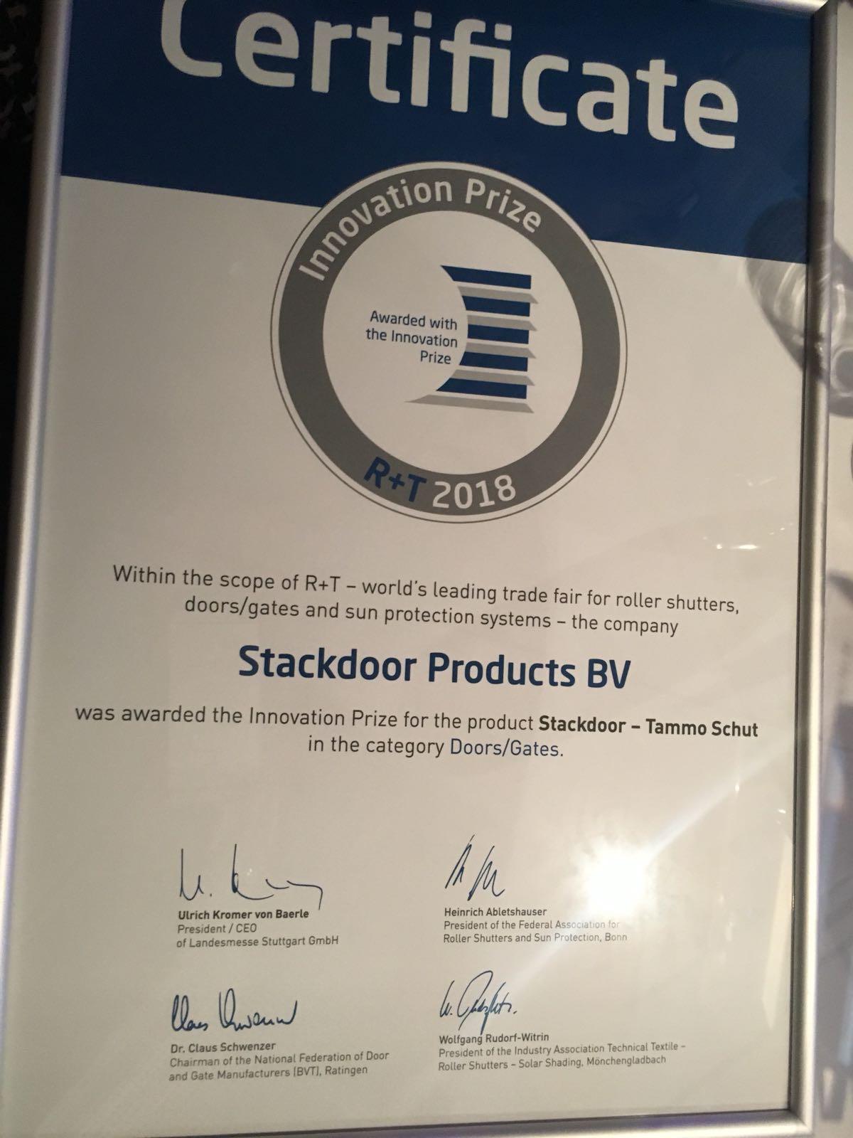 Stackdoor wint internationale